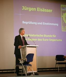 Elsässer auf der Euro-Konferenz von COMPACT, Frühjahr 2012