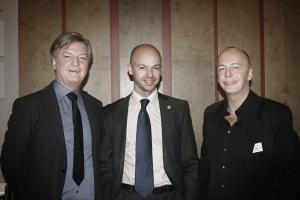 Olli Janich, Rico Albrecht, Jürgen Elsässer (v.r.n.l.) – gemeinsam für die gute Sache, trotz Differenzen