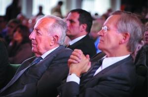 Auf der COMPACT-Konferenz 2012: Scholl-Latour, Schachtschneider. Foto: Lohrbach