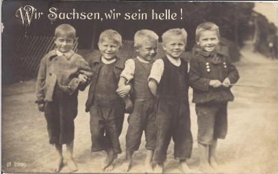 Wir Sachsen, wir sein helle!