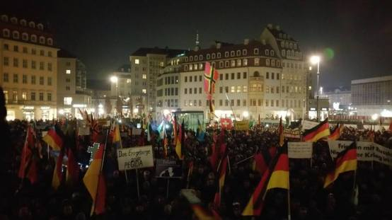 Pegida am 16.2., Foto Pegida/Facebook