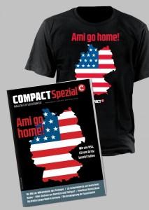 """COMPACT-Sonderausgabe und COMPACT-T-Shirt zu """"Ami go home"""""""