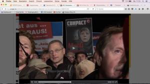 Gestern, 21.1., Erfurt: AfD-Demo gegen Asylmissbvrauch. COMPACT ist mit dabei. Foto: Screenshot von spiegel.de/Video