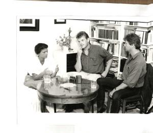 Wagenknecht (links), Holger Becker (m.), Elsässer (rechts).