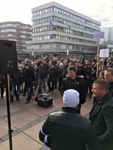 Über 1.000 Russlanddeutsche demonstrierten Ende Januar gegen den Asylwahnsinn.
