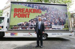Die Zukunft eines Großbritanniens in der EU: Flüchtlingsströme. Neues Brexit-Poster von Nigel Farage.