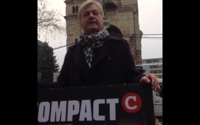 Nicht nur schreiben, sondern auch auf der Straße stehen und kämpfen: Elsässer am Terrortatort Gedächtniskirche, 20.12.2016